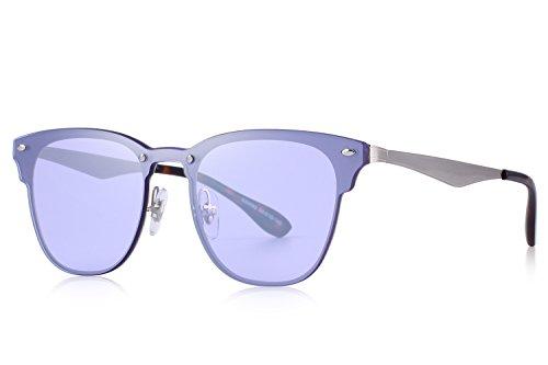 MERRYS Men/Women Classic Retro Rivet Sunglasses 100% UV Protection S8208 Purple