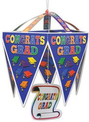Congrats Grad Pennant Chandelier (Sold by 1 pack of 12 items) PROD-ID : 1907278