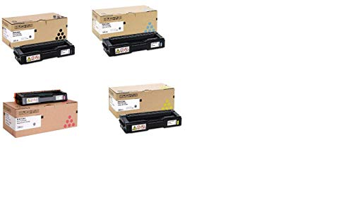 Genuine Ricoh SP C310HA 406475, 406476, 406477, 406478, High Yield Toner Bundle Set SP C311N C312DN SPC312DN BCYM Sealed in Retail Packaging (Sp Drum Set)