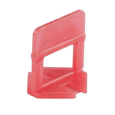 """Raimondi Leveling Clip 1/8"""" joint, 1/8"""" to 1/2"""" Tile, Bag of 250 pcs, 180BS0003C0250 (red)"""