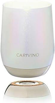 CARIVINO: Luxury Wine Tumbler with Genuine Cork Base and Ceramic Interior (No Metal Taste) – Premium Gift Box