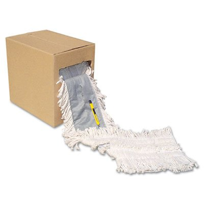 UNISAN FF40 Flash Forty Disposable Dustmop, Cotton, 40'' by 5'', Natural