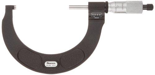 Starrett 216RL-2 Digital Outside Micrometer, Ratchet Stop, Lock Nut, 1-2