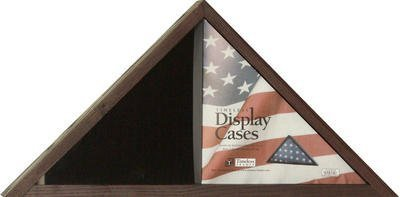 Flag Display Case Finish: Cordovan Wood by Timeless Frames