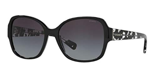 COACH Women's 0HC8166 Black/Black Crystal Mosaic Sunglasses