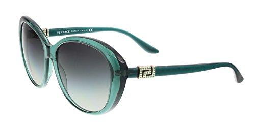 Versace Women's VE4324B Sunglasses Transparent Green / Grey Gradient - Butterfly Versace Sunglasses