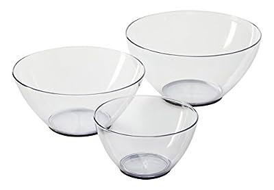 Farberware Bowl Set, Clear, Set of 3