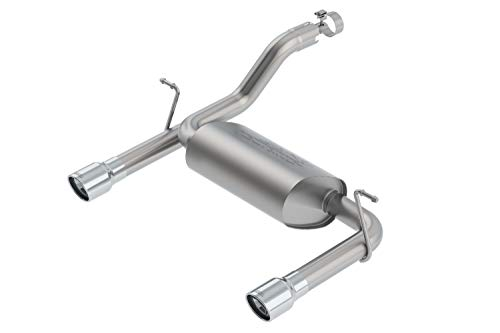 - Borla 11955 Touring Axle-Back Exhaust System 2.5 in. Tubing 3.5 in. Single Round Rolled Angle Cut Lined Tip Single Split Rear Exit Polished Touring Axle-Back Exhaust System