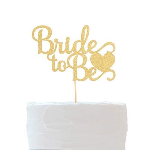 Bridal Shower Cake Toppers Glitter Gold Bachelorette Cake Toppers Party Decoration Favors (Bride To Be)