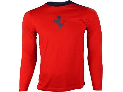 Ferrari Longues T shirt Rouge À Manches Homme q1qCP