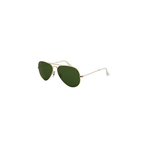 Ray-Ban Aviator Classic Gold Sunglasses Arista / Crystal Green - 62 Rayban 14