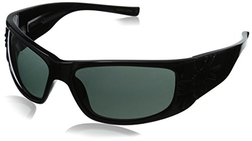 Black Flys Sonic Fly 2 SMK Lens Wrap Sunglasses, Shiny Black, 63 - Sunglasses Black Flies