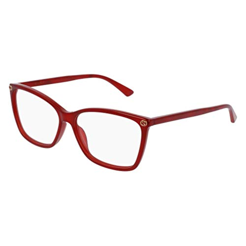Gucci GG0025O Optical Frame 004 Red 56 ()