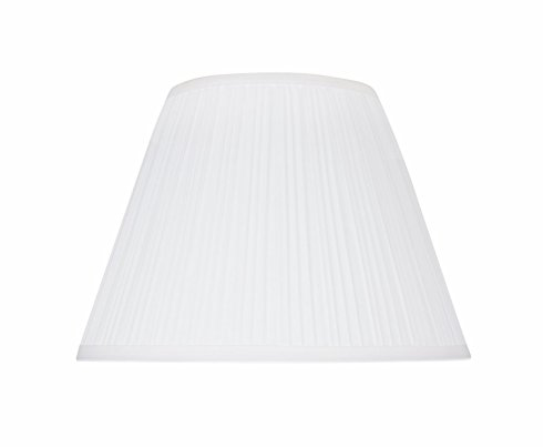(Aspen Creative 33011 Transitional Pleated Empire Shape Spider Construction Lamp Shade in White, 13