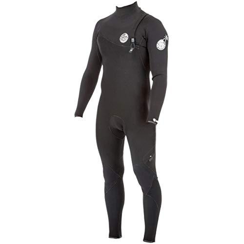(Rip Curl Dawn E-Bomb 3/2mm Zip Free Wetsuit - Men's - Black (Medium))