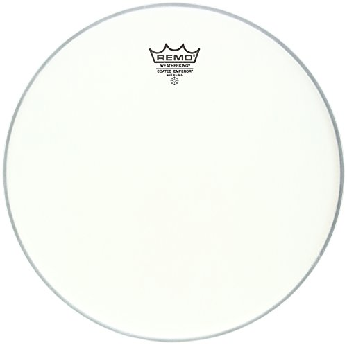 (Remo BE-0113-JP 13-Inch Coated Emperor Drum Head, Smooth White)