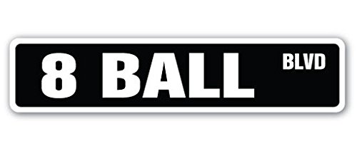 1080 Graphics 8 Ball Street Sign Decal Sticker Billiards Pool cue pooltable Darts poolroom Room Parlor ()