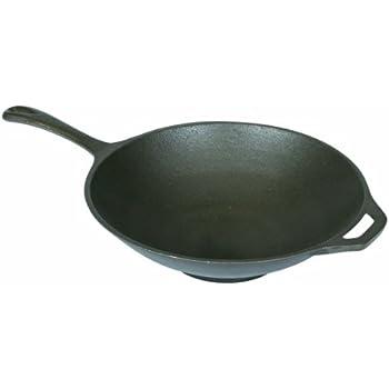 Stansport Cast Iron Wok or Stir Fry Skillet