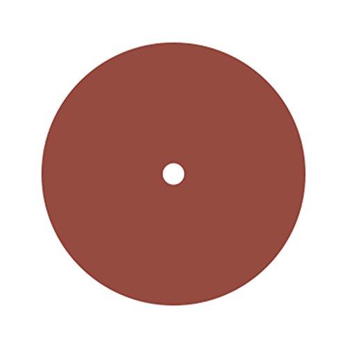 Dedeco 0169 Rubberized Abrasive Wheel, Silicon Carbide, Fine, 6'' x 1/2'' x 1/2'', Red