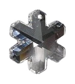 (Swarovski 6704 Snowflakes Beads, Transparent, Crystal, 20mm, 2 Per Pack)