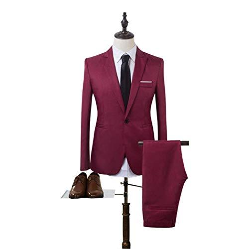 Leisure Moda Jacket Sposa E Slim Inverno Unita Fit Da Uomo Pant Blazer Tinta Casual One Rot Aziendale Autunno Giovane Button Lavoro xCX4wCq