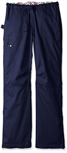 Cargo Navy Scrub Pant (KOI Women's Tall Lindsey Ultra Comfortable Cargo Style Scrub Pants Sizes, Navy, Medium/Tall)