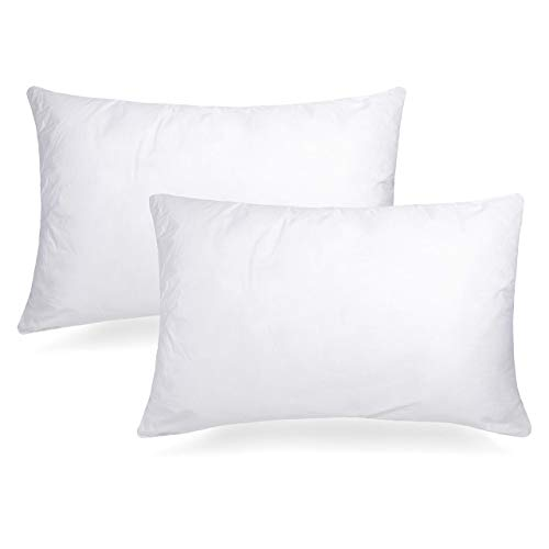Adoric Pillows for Sleeping, Bed Pillows 2 Pack Standard Down Alternative Bed Pillows 100% Cotton