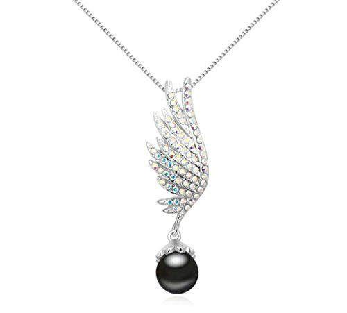 Daesar Gold Plated Women's Wing Necklace Rhinestone CZ Pendant Necklace for - Sunglasses Sword Cheap