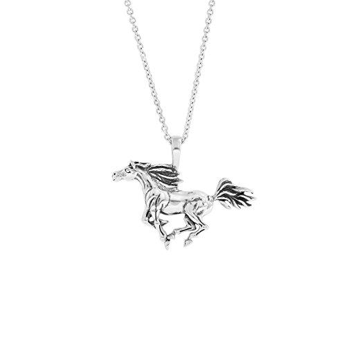 (Kabana Sterling Silver Trotting Horse Pendant)