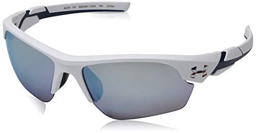 Under Armour Kid's Windup Sunglasses, White / Tuned Baseball Lens, 64 mm