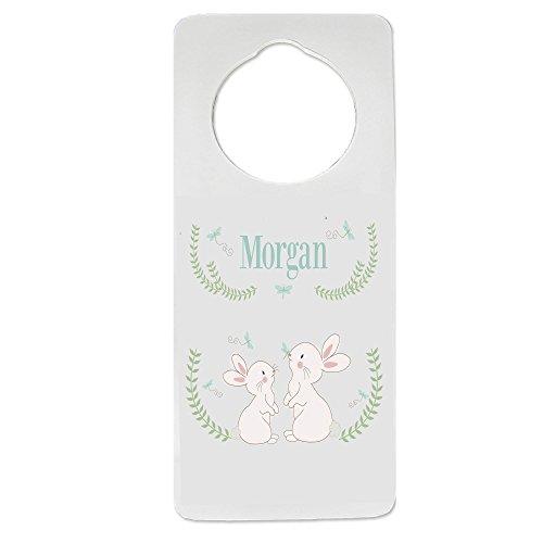 Personalized Classic Bunny Nursery Door Hanger by MyBambino