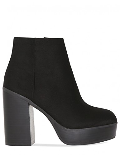 Suede Platform in Boots LAMODA Creep Faux Womens Black Ankle 7aqnP0