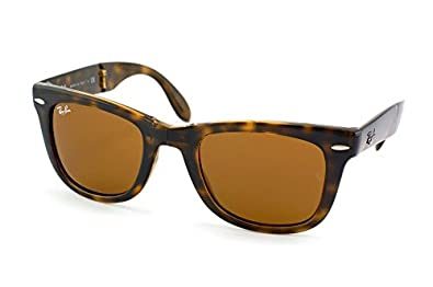 2b082099e164d Image Unavailable. Image not available for. Color  Ray Ban RB4105 710 54mm  Light Havana Folding Wayfarer Sunglasses Bundle-2 Items