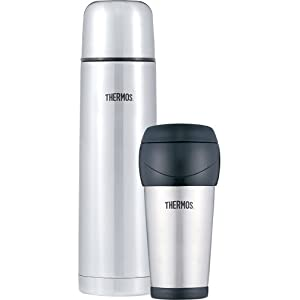 thermos stainless steel travel tumbler and 1 liter travel bottle set 16 ounce. Black Bedroom Furniture Sets. Home Design Ideas