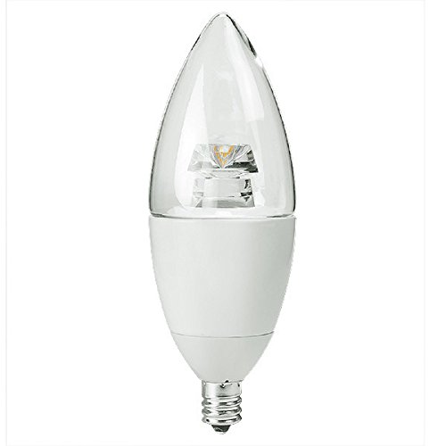 LED Chandelier Bulb - 7.5W - 550 Lumens - 60W Equal - 5000 Kelvin - Clear - Straight Tip - Candelabra Base - Dimmable - 120V