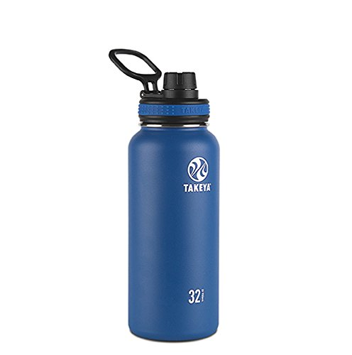 (Takeya Originals Vacuum-Insulated Stainless-Steel Water Bottle, 32oz,)