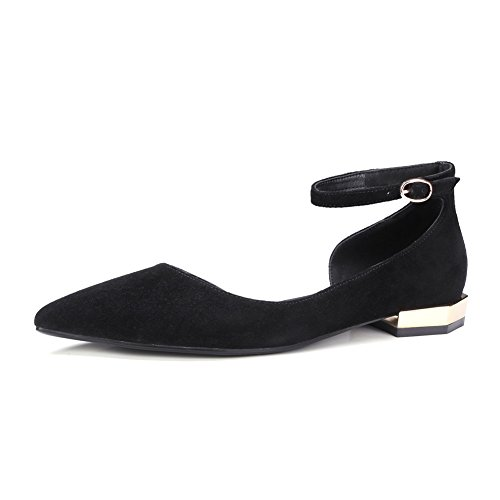 Crudo ligero con zapatos en la primavera/La versión coreana de los zapatos puntiagudos elegantes y minimalistas/talón del gatito salvaje A
