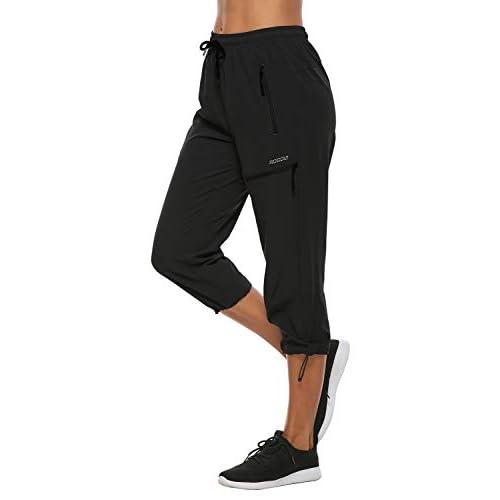 Mocoly Women's Water Resistant Hiking Pants Elastic Waist