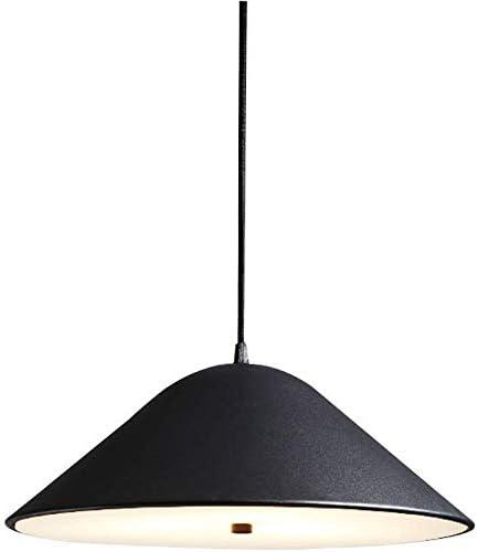 Lámpara colgante moderna nórdica Luz de techo creativa LED Personalidad Luz colgante para restaurante Bar Dormitorio Iluminación de cabecera, Ajuste de altura, Negro: Amazon.es: Iluminación