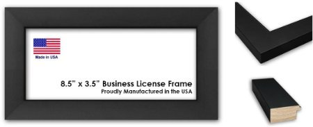 amazoncom 85 x 35 inch professional business license frame black wood