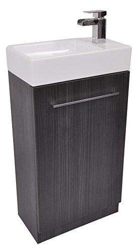 toilet sink vanity units. Grey Cloakroom Bathroom Vanity Cupboard Unit Basin Sink Waterfall Tap