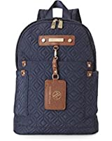 Adrienne Vittadini Navy Quilted 15 Backpack The Travel Light Collection (Navy Blue)