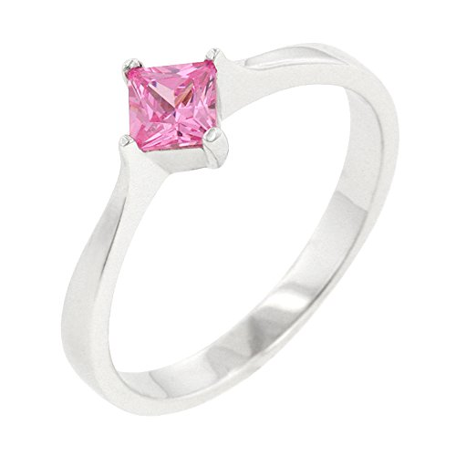 (J Goodin Classic Petite Pink Ice Solitaire Ring Size 9)