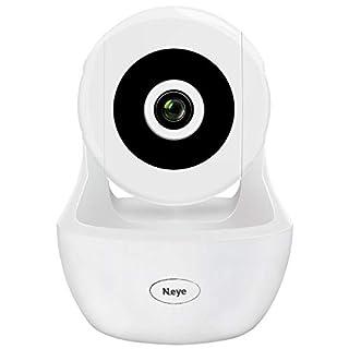 Wireless Camera 1080P HD Monitor Home Dome Camera Pet Monitor WiFi Mobile Phone Monitor Indoor Night Vision 360° Panorama(White)