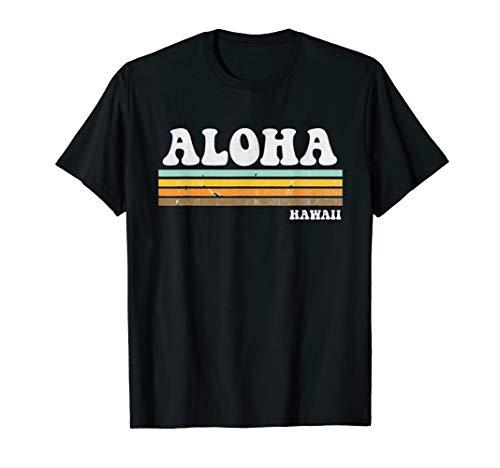 Retro Vintage Aloha Hawaii Distressed Men Women Gift  T-Shirt