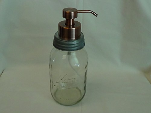 GALVANIZED STEEL LID WITH COPPER FOAMING PUMP-MASON JAR S...