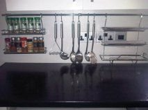 Hinge And Bracket Supplies Kitchen Railing System Rail Fixings Spice Rack  Foil Holder 6Hooks Chrome Kit