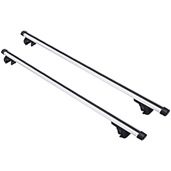 """Orion Motor Tech Universal 53"""" OE Style Auto SUV Roof Top Cross Bars Aluminum Alloy Luggage Cargo Carrier Rack Adjustable"""