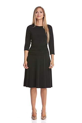 Esteez Womens Fit-and-Flare Dress - Slimming Tummy Control 3/4 Sleeve - Adele
