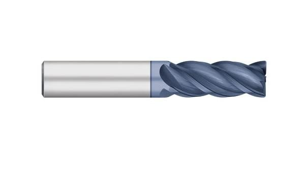 Regular Length 13//16 Length of Cut Titan TC22238 VI-Pro Variable Index Solid Carbide End Mill 4 Flute 0.015 Corner Radius Corner Radius AlTiN Coated 2-1//2 Overall Length 5//16 Cutting Diameter